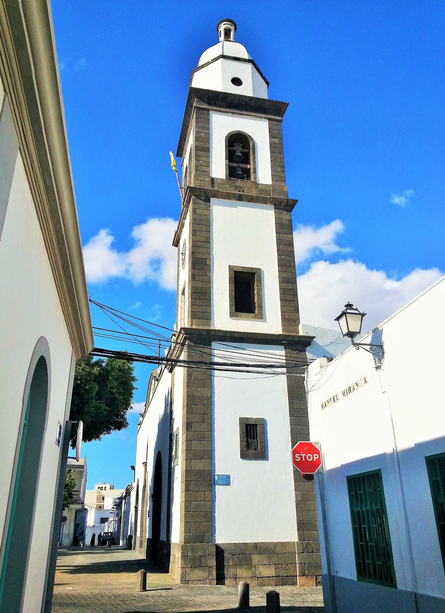 La iglesia es uno de los edificios más prestigioso de Arrecife