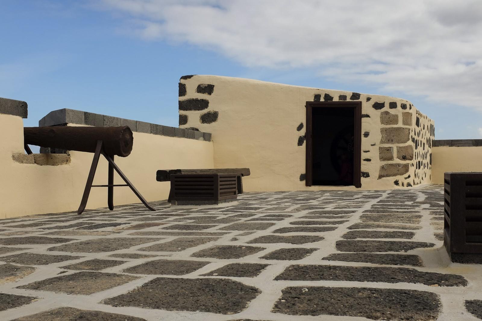 La plaza de armas o azotea del Castillo