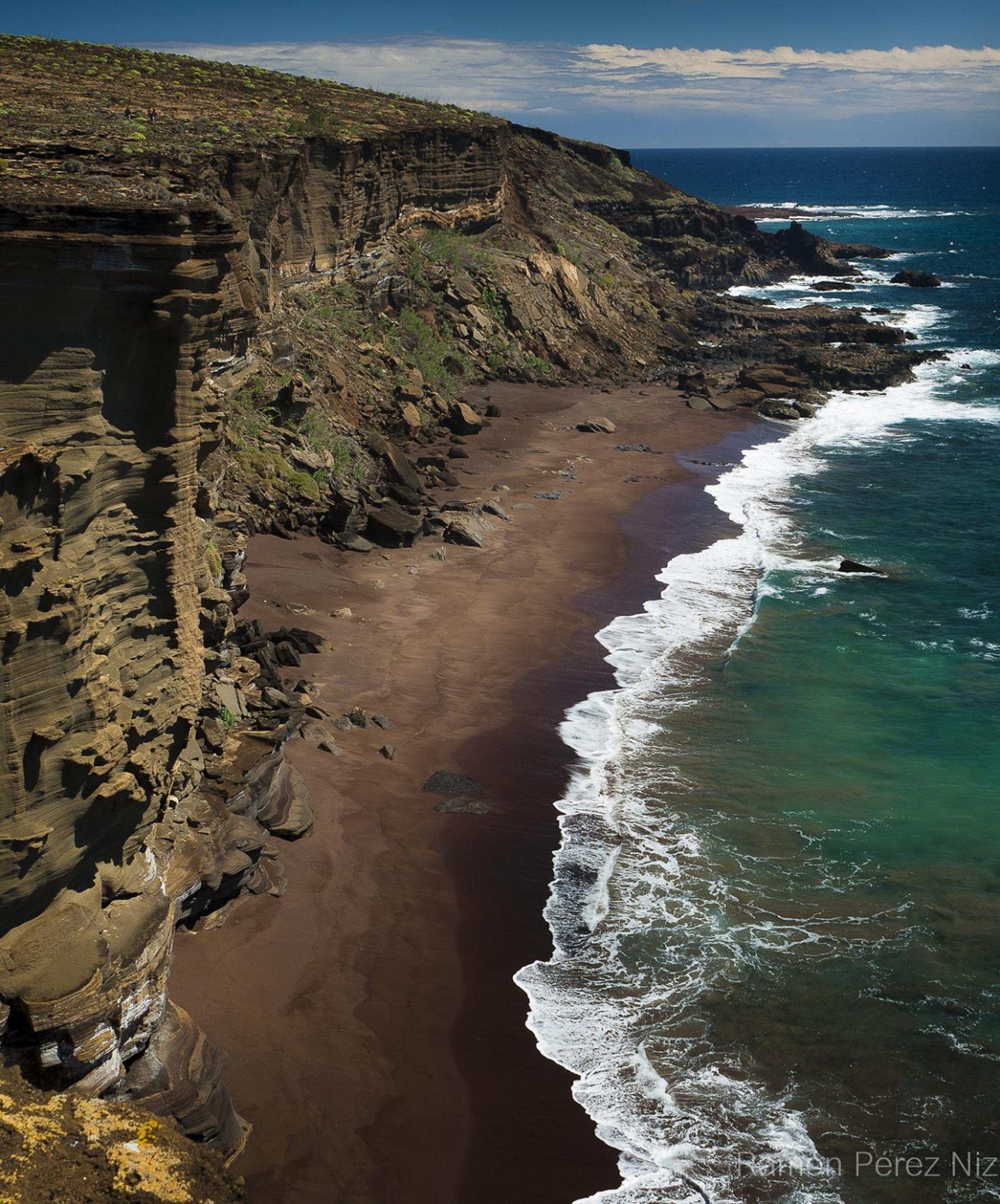 Playa del Islote de Alegranza, fotografía de Ramón Pérez Niz