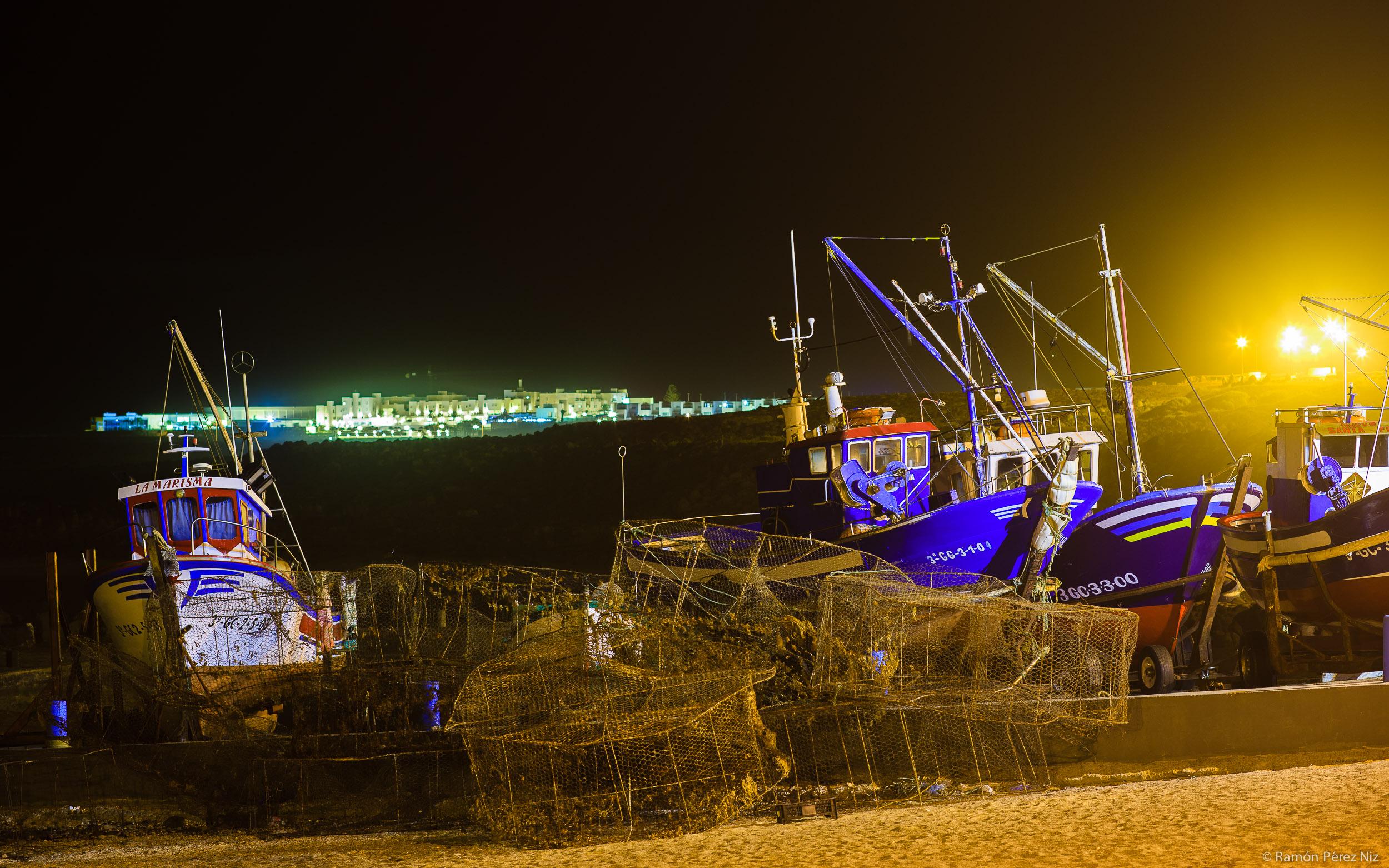 Barcos en La Santa