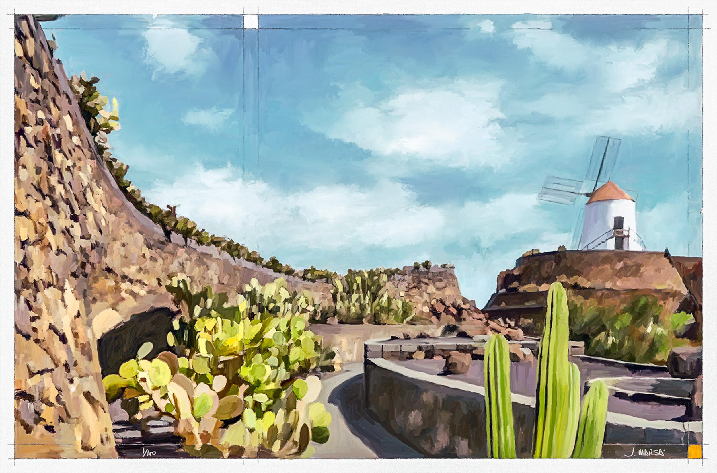 Jardín de Cactus en pintura, por Jorge Marsá