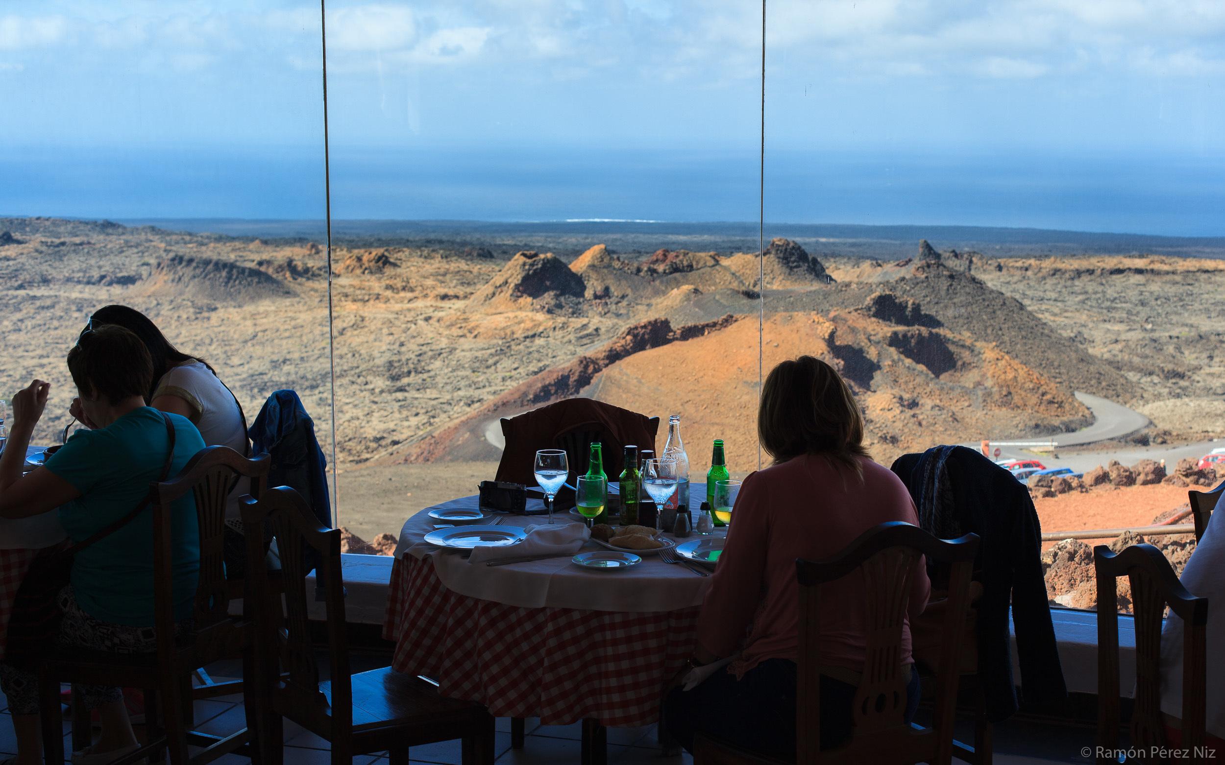 Restaurante El Diablo de Timanfaya, fotografía de Ramón Pérez Niz