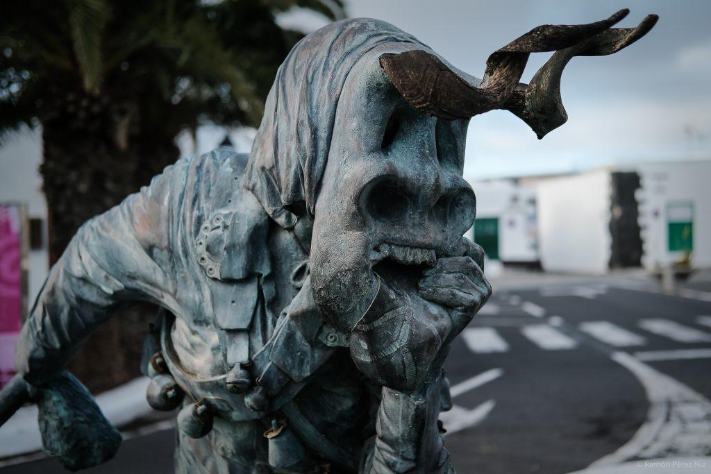 Escultura de Diablete de Teguise. Fotografía de Ramón Pérez Niz.
